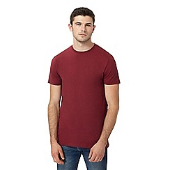 Red Herring - Big and tall dark red muscle fit t-shirt