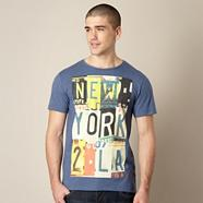 Navy 'New York' print t-shirt