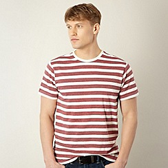 Red Herring - Dark red marled stripe t-shirt