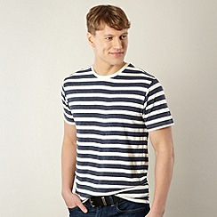Red Herring - Navy marled stripe t-shirt