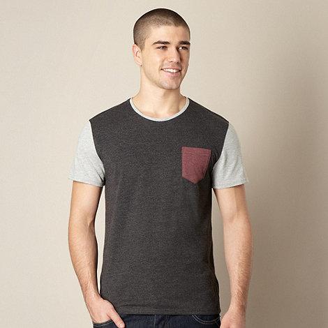 Red Herring - Dark grey contrast sleeve t-shirt