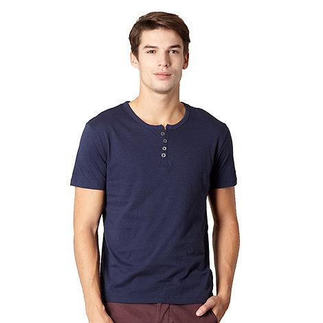 Red Herring - Navy button neck t-shirt