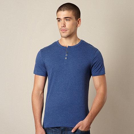 Red Herring - Dark blue button neck t-shirt