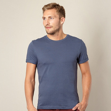 Red Herring - Mid blue plain roll sleeve t-shirt