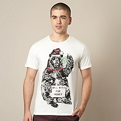 Red Herring - Off white  bear print t-shirt