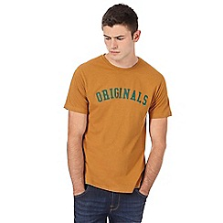 Red Herring - Dark yellow 'Originals' print slim fit t-shirt