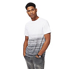 Red Herring - White and grey striped slim fit t-shirt
