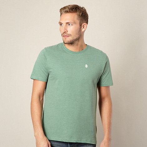St George by Duffer - Green crew neck jersey t-shirt