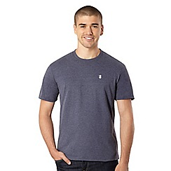St George by Duffer - Big and tall navy plain logo t-shirt