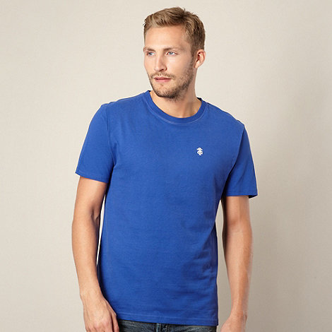 St George by Duffer - Big and tall bright blue crew neck jersey t-shirt