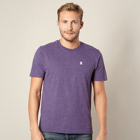 St George by Duffer - Big and tall purple crew neck jersey t-shirt