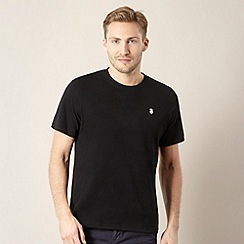 St George by Duffer - Big and tall black plain logo t-shirt