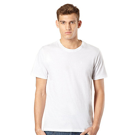 St George by Duffer - White embroidered logo t-shirt