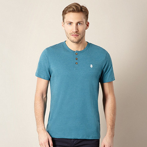 St George by Duffer - Turquoise button neck t-shirt
