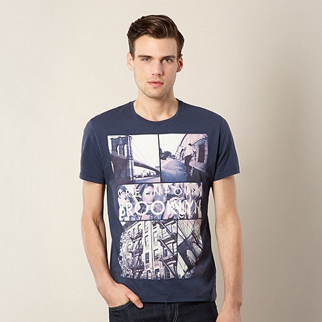 FFP - Navy +Brooklyn+ photo print t-shirt