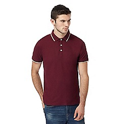 Red Herring - Big and tall dark red tipped polo shirt