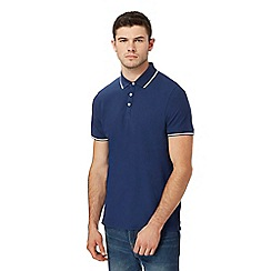 Red Herring - Big and tall navy tipped polo shirt