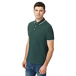 Red Herring - Big and tall dark green tipped polo shirt
