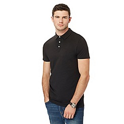 Red Herring - Big and tall black muscle fit polo shirt