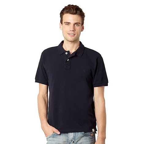 St George by Duffer - Navy pique polo shirt
