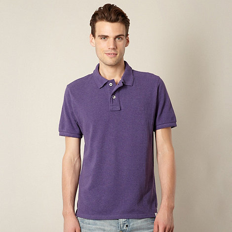 St George by Duffer - Purple pique polo shirt