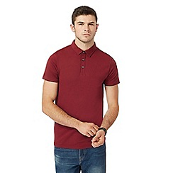 Red Herring - Big and tall dark red muscle fit polo shirt