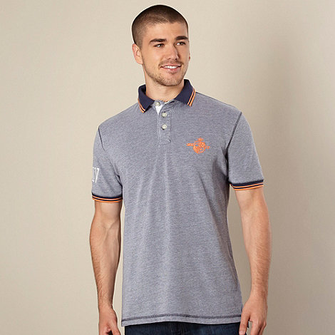 St George by Duffer - Navy twin tipped pique polo shirt