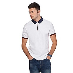 Red Herring - Big and tall white slim fit polo shirt