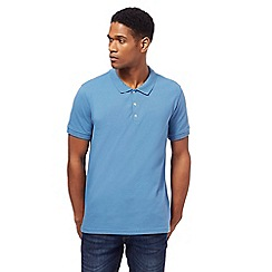 Red Herring - Light blue popper neck polo shirt
