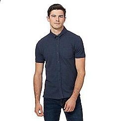 Red Herring - Navy pique jersey shirt