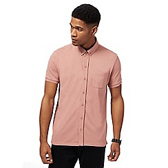Red Herring - Big and tall dark pink pique jersey shirt