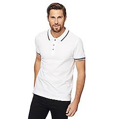 Red Herring - Big and tall white tipped slim fit polo shirt