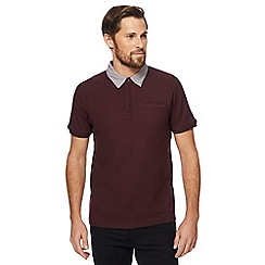 Red Herring - Big and tall red pique collar polo shirt
