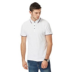 Red Herring - Big and tall white tipped polo shirt