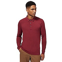 Red Herring - Dark red muscle fit rugby shirt