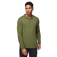 Red Herring - Big and tall khaki muscle fit polo shirt