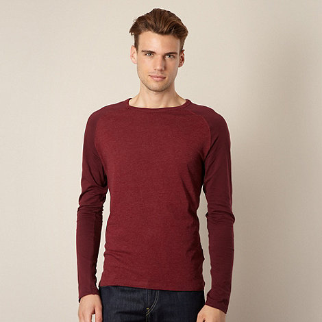 Red Herring - Maroon raglan sleeve top