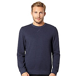Red Herring - Navy marled crew neck sweatshirt