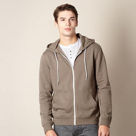 Red Herring - Khaki zip through hoodie