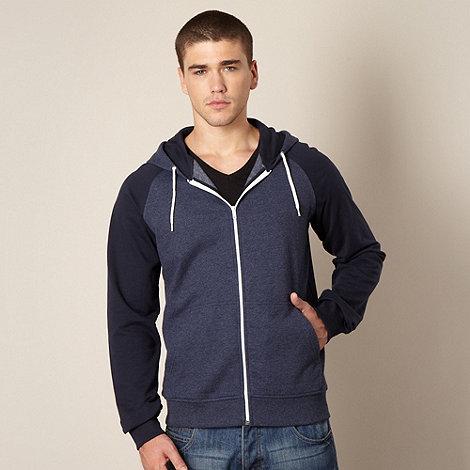 Red Herring - Blue contrast zip through hoodie
