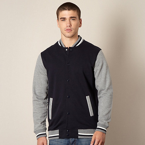 Red Herring - Navy  contrast sleeve sweat jacket