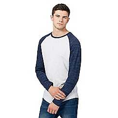 Red Herring - Big and tall grey slim fit raglan top