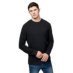 Red Herring - Black pique jumper