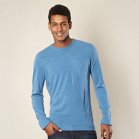 Red Herring - Light blue acrylic knit jumper