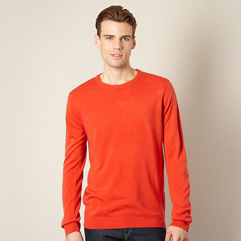 Red Herring - Bright orange crew neck jumper