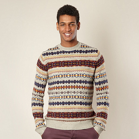 Red Herring - Light brown fairisle jumper
