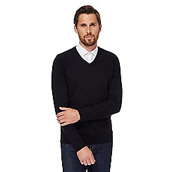 Red Herring - Black V-neck jumper