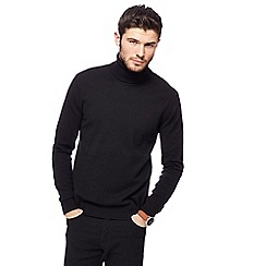 Red Herring - Black rollneck jumper