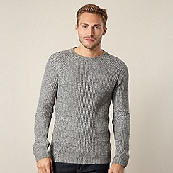 Red Herring - Grey ribbed elbow patch jumper