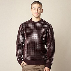 Red Herring - Maroon dotted knit jumper